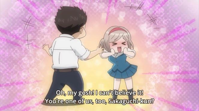 Fudanshi Koukou Seikatsu finding other otaku.jpg