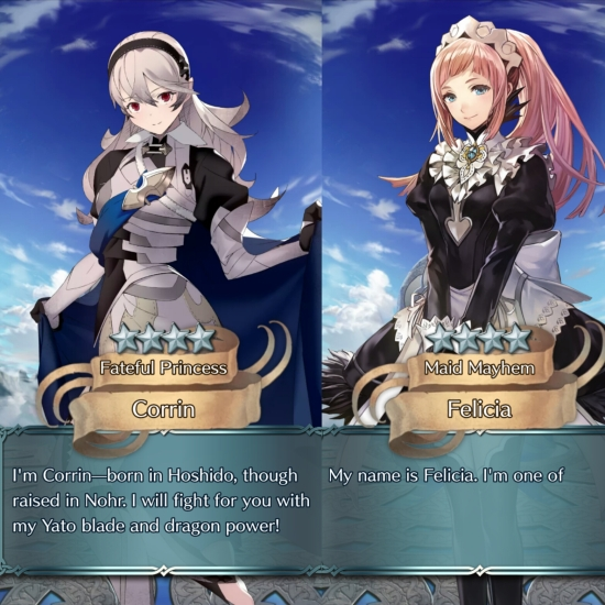 Fire Emblem Heroes Corrin and Felicia summon.jpg