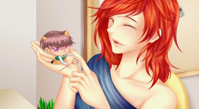 Amplitude a visual novel cute cg