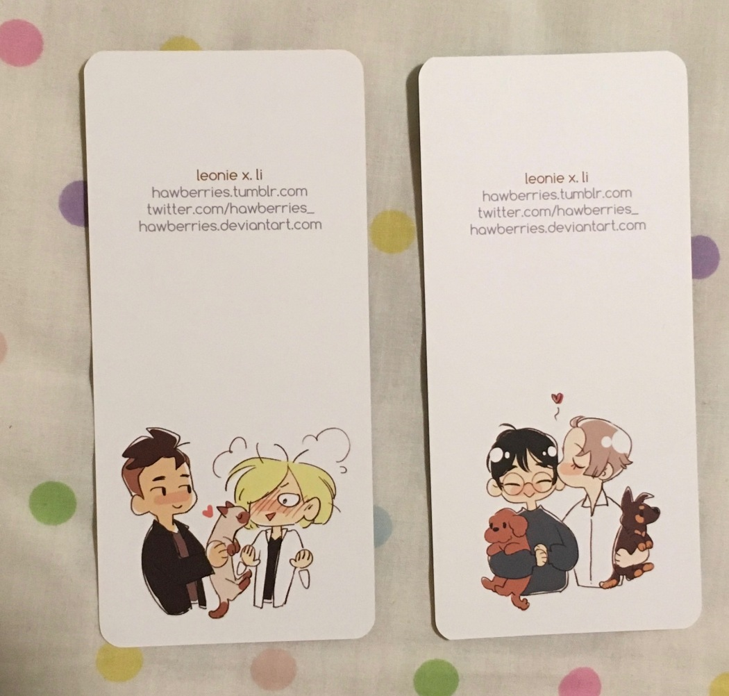 Yuri on Ice Bookmarks back.jpg
