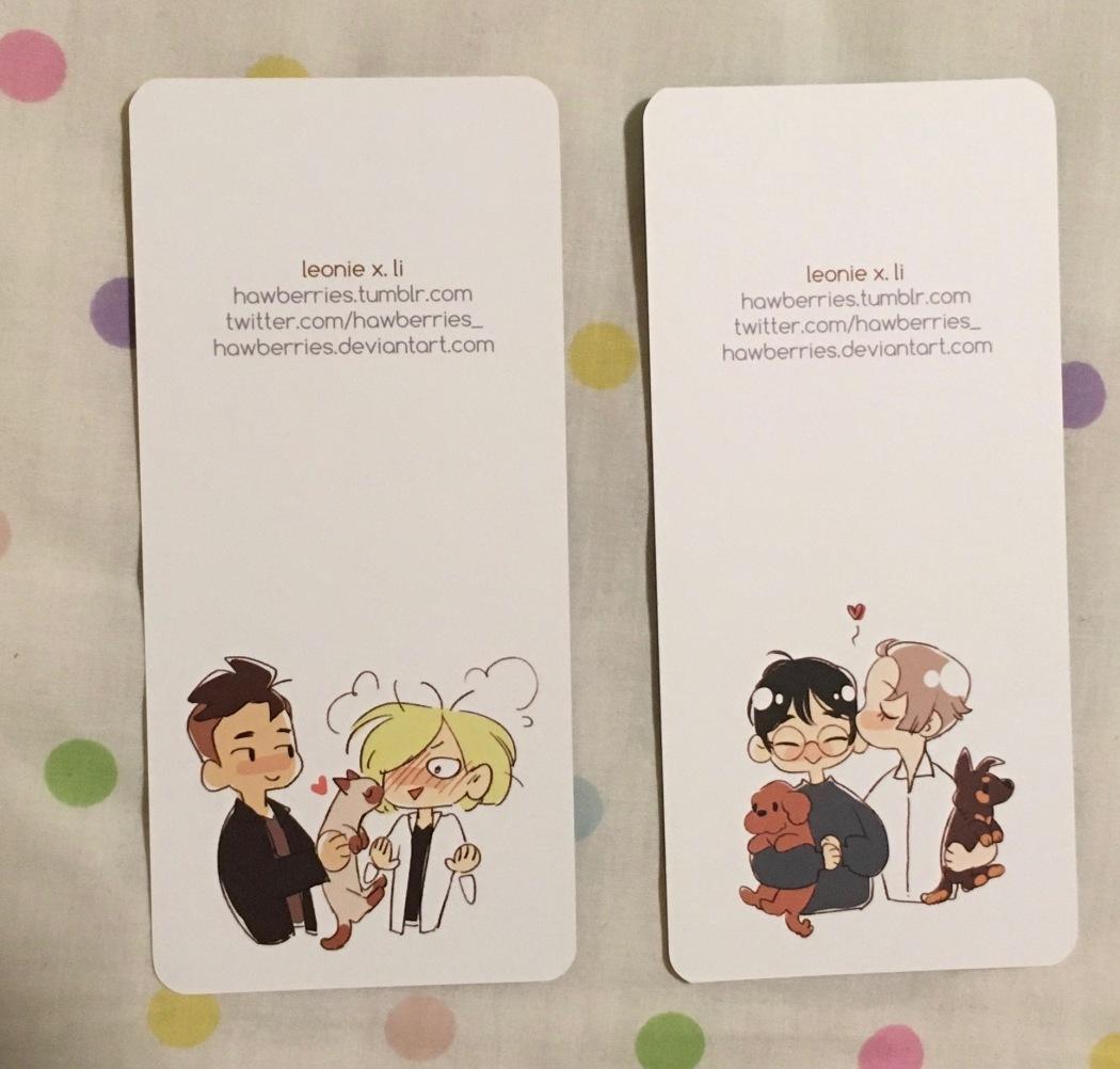 Yuri on Ice Bookmarks back.jpg