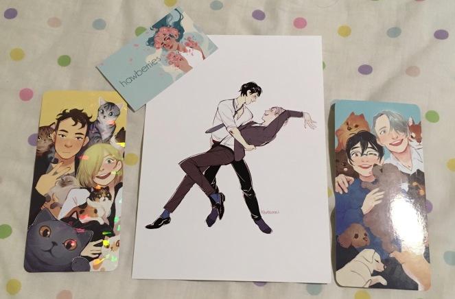 Yuri on Ice fan art haul.jpg