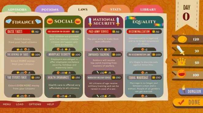 Your Royal Gayness interface.jpg